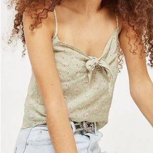 NWT TOPSHOP Floral Camisole Mint Green size 8
